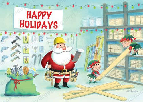 Construction List Christmas Card And Holiday Cards